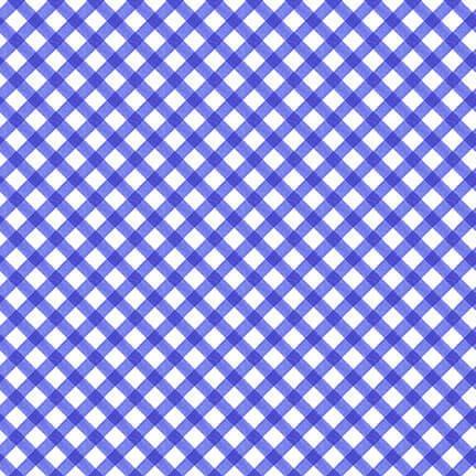 9344-71 JUST LEMONS BLUE DIAGONAL PLAID