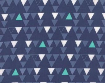 Moda Color Theory 10832 15 Triangles on Blue