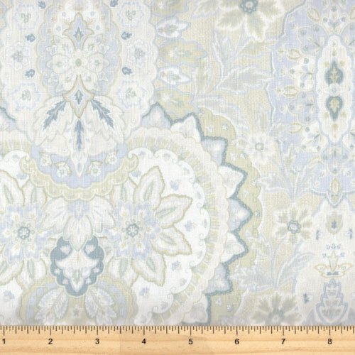 Gatsby's Flora 25160 BLUE Cream with gatsby desgin in teal/brown