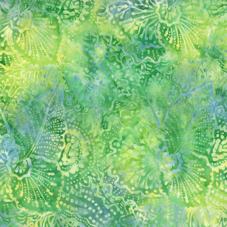 22203 745 Green Yellow Batik