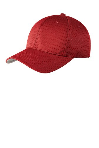 904a28f542f JM-123 R Outdoor Cap Structured Jersey Mesh Red - 22167002052