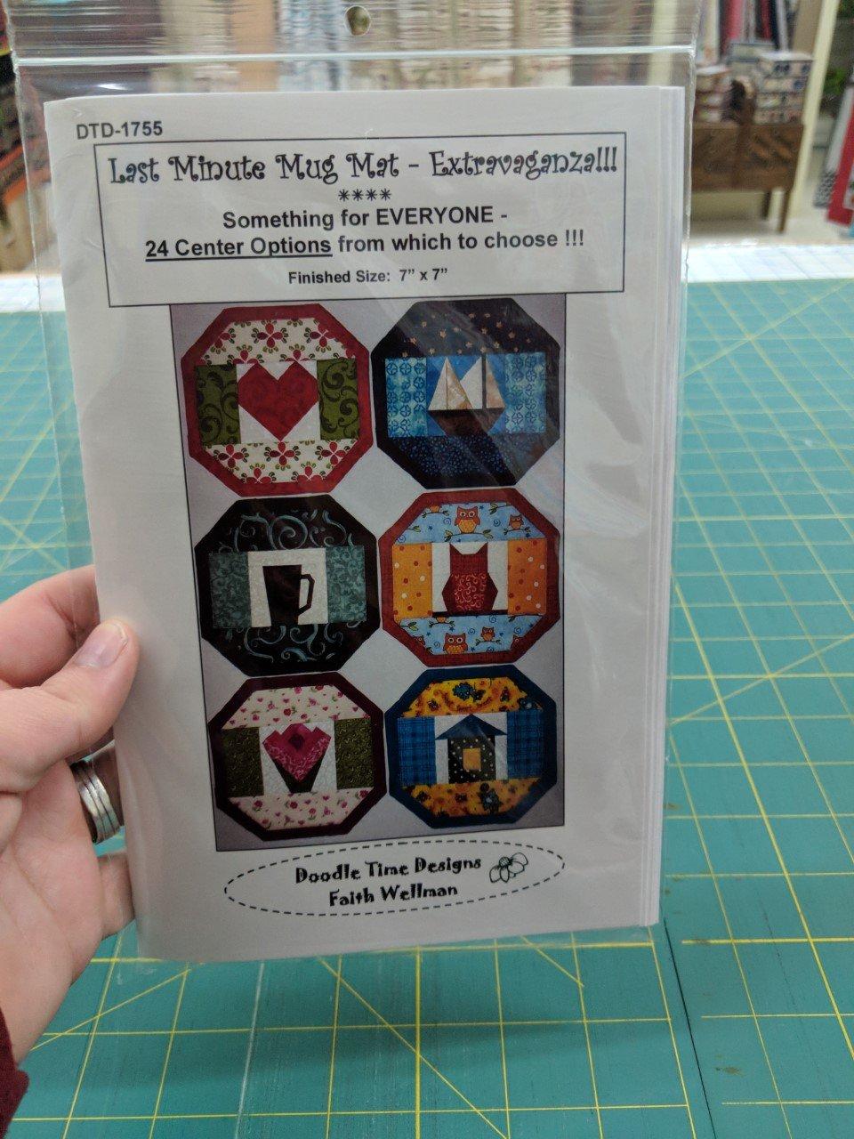 Last minute mug rug by doodle time designs