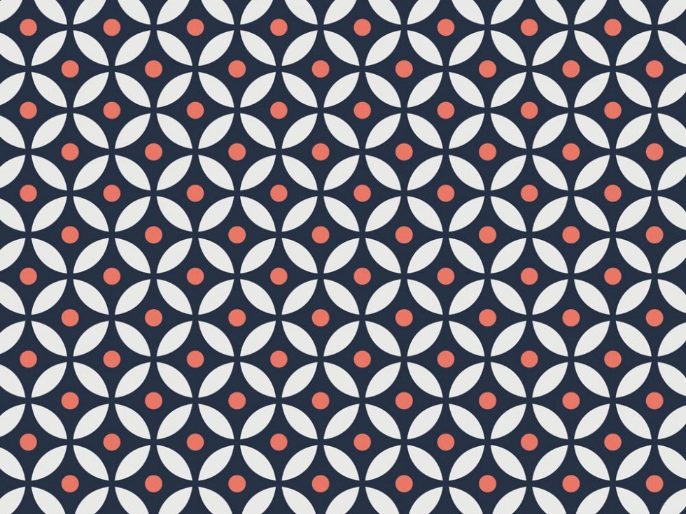 CF Camelot Fabrics 2142404 01 Caroline White with  Dimond in navy and peach dots.