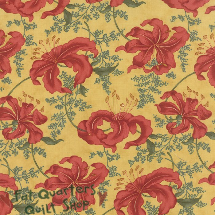Moda Lilies Of The Field 2150 12 Golden Rod Large Tiger Lily on Gold