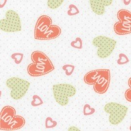 EESFLPLOV-Cora  Coral love Flannel