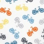 Cycles of Life Colored Bikes/white background