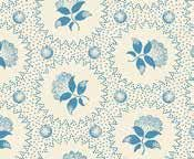 Andover Melodies by Jo Morton  Blue Circles and Flowers on Cream.  A-7641-B