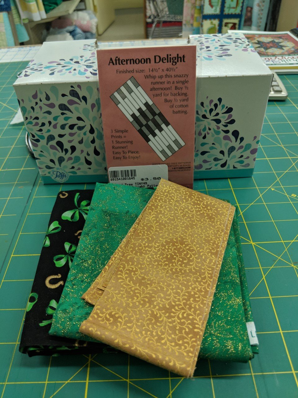 Afternoon Delight/ Shamrock Gold Runner Incld. Binding