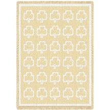 PCW 467-A Pure Country Weavers Shamrock Natural Throw Blanket