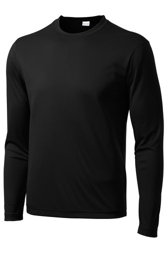 ST350LS Large Black Long sleeve