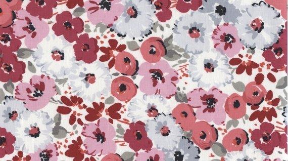 DearStella  STELLA-345 Multi Bouquet  Pink Flower Variety on White