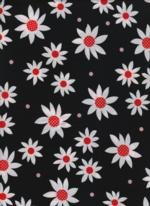 HG  Steppin' Out  HEG9758-99  Large White daisies  on Black