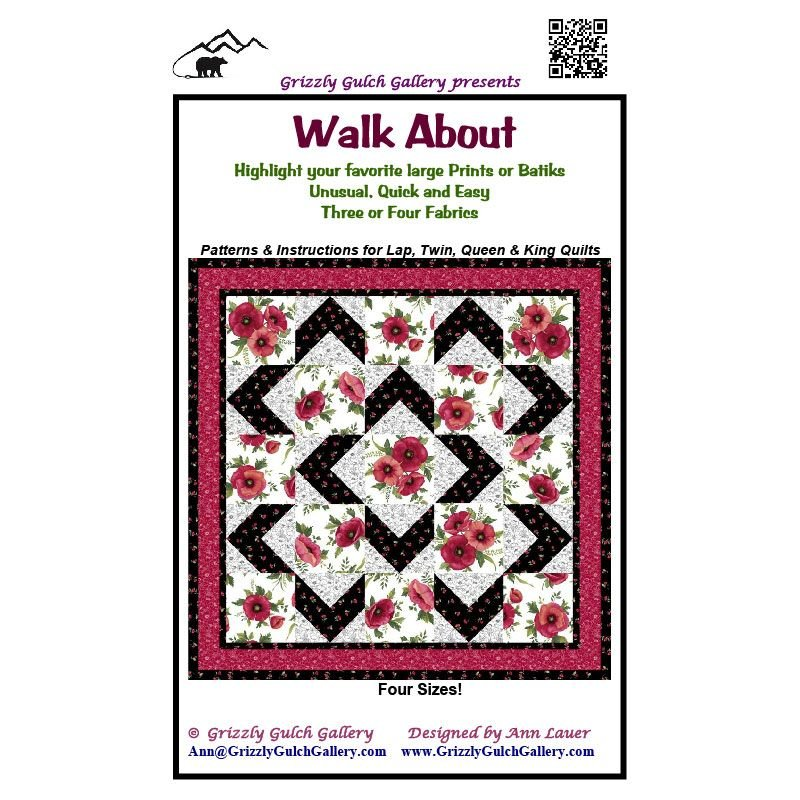 NEW From GRIZZLY GULCH GALLERY WALK ABOUT QUILT QUILTING PATTERN