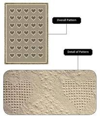 PCW 257-A Pure Country Weavers Basketweave Hearts Natural Throw Blanket