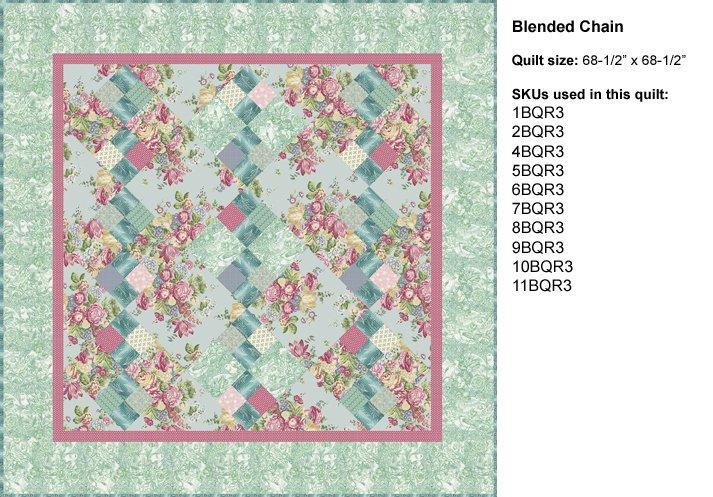 Romance Quilt Book: Blended Chain Lap Quilt