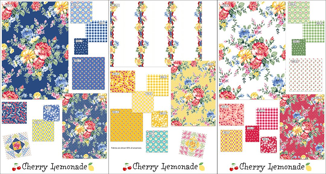 Cherry Lemonade Complete 10 yd. Collection