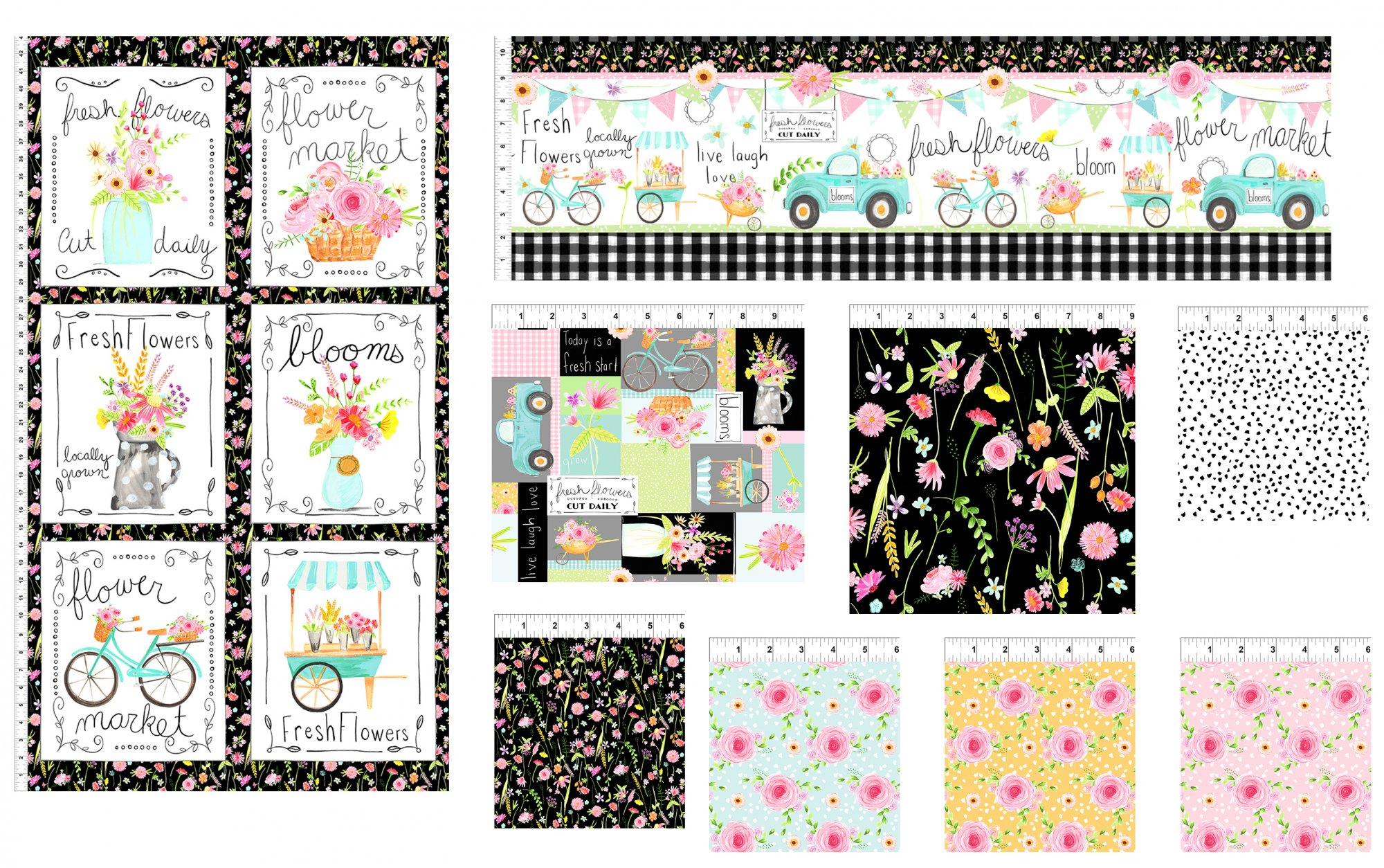 Flower Market Complete 10 yd. Collection