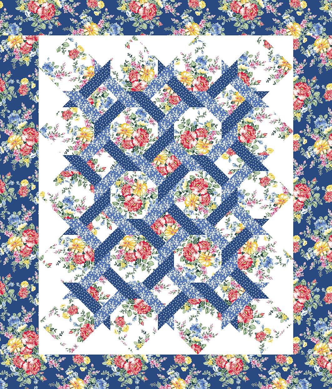 Cherry Lemonade Garden Twist Quilt Pattern