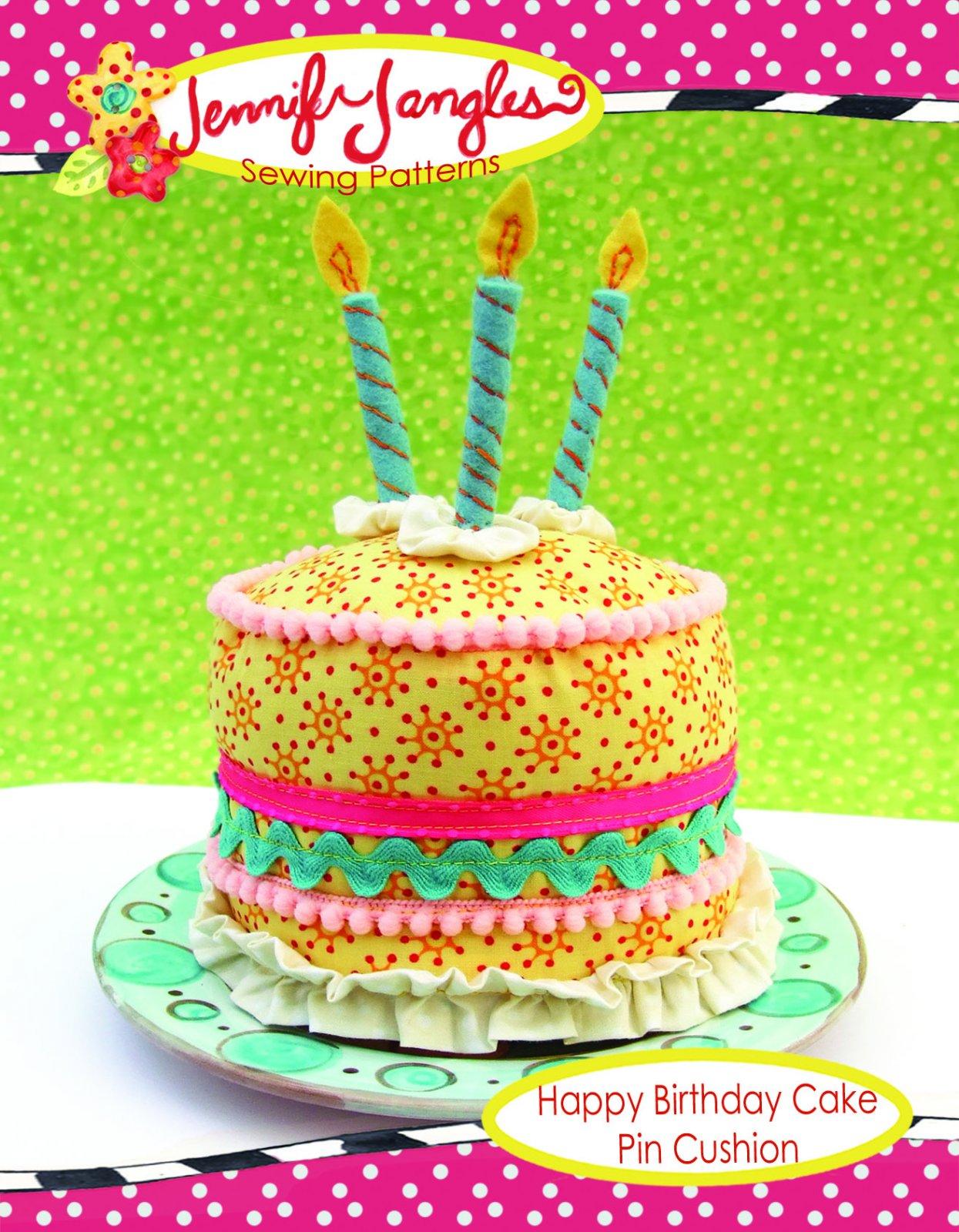 Happy Birthday Cake Pincushion Pattern