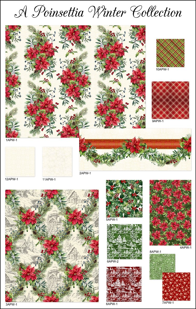 A Poinsettia Winter Complete 15yd. Collection