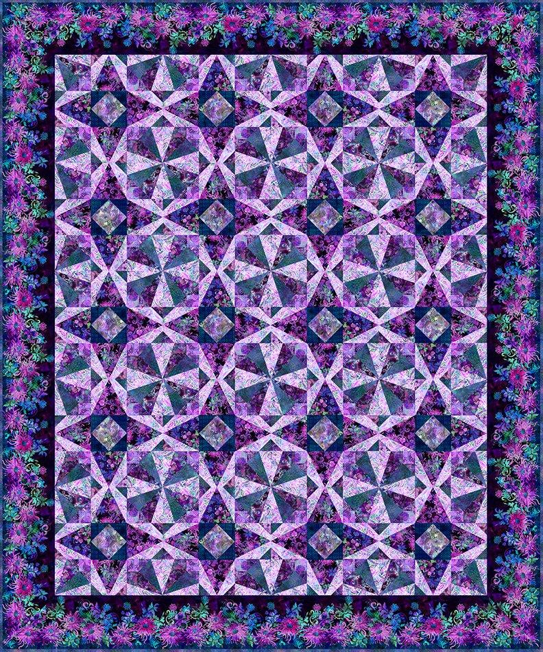 Floragraphix V Facets Quilt - Shop Kit