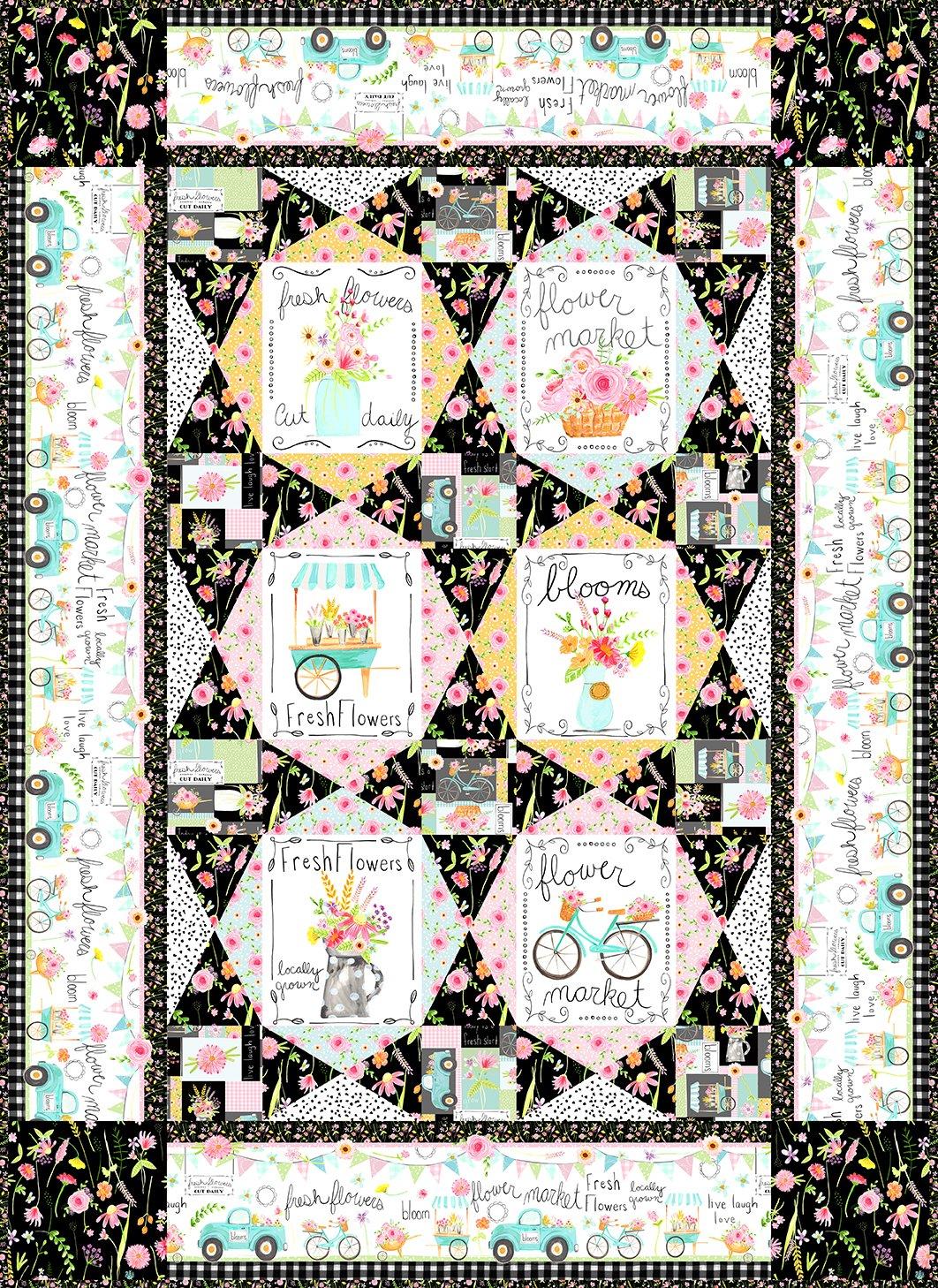 Flower Market Quilt Pattern