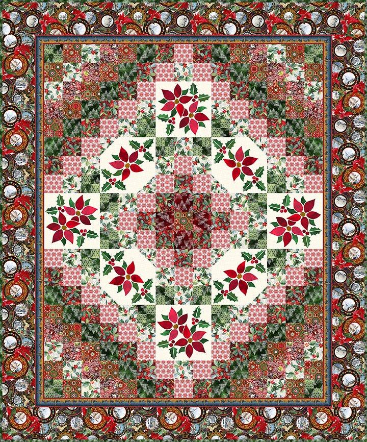 Winter Trip Around the World Quilt Pattern