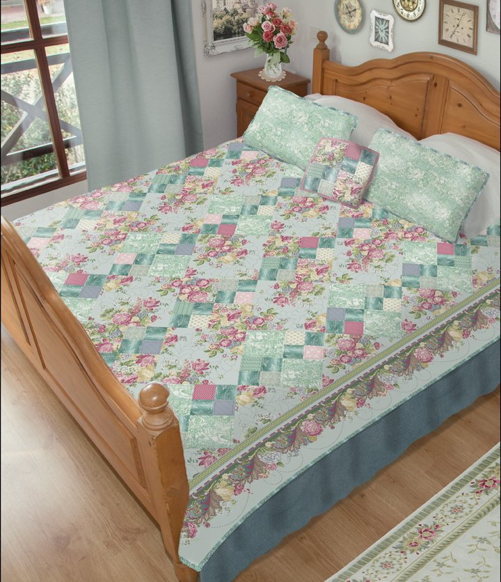 Romance Quilt Book: Blended Chain Bed Quilt