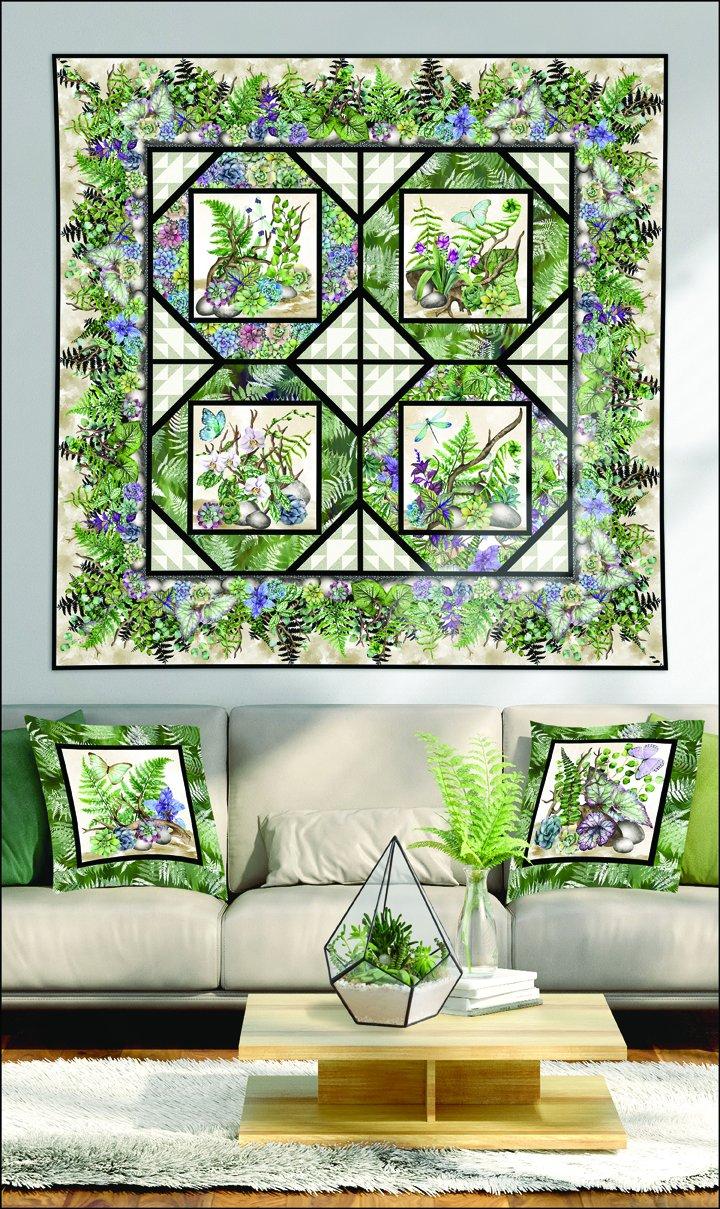 Terrarium Quilt and Pillow Pattern