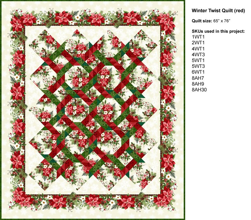 Winter Twist Book: Winter Twist Quilt