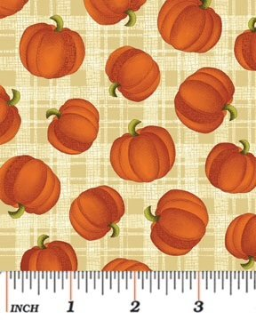 Benartex Harvest Song Pumpkin Plaid