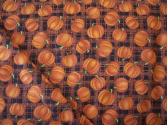 Benartex Harvest Song Pumpkin Plaid