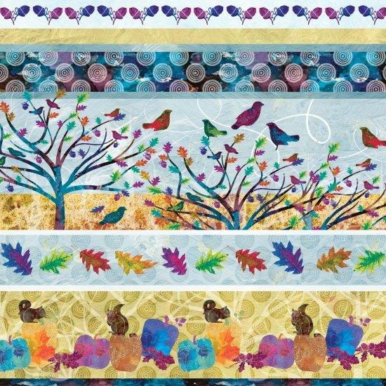 Autumn Hues Novelty Stripe Studio E