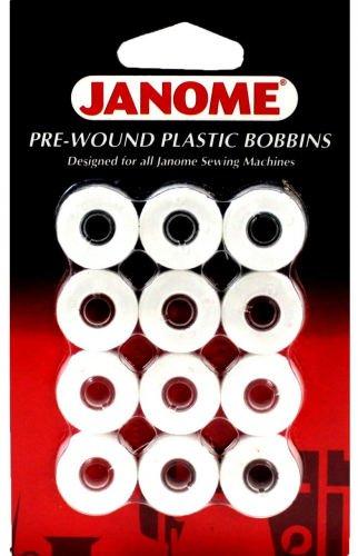 Janome Pre-Wound Bobbins White - 732212945915