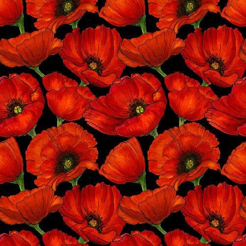 Prairie Lane Large Poppies Red