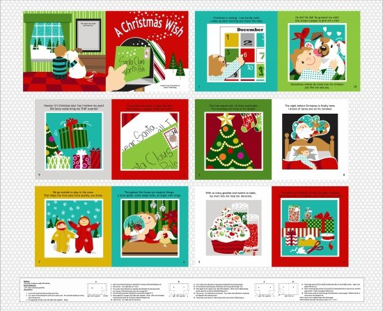 A Christmas Wish Book Panel