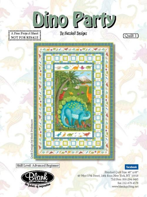 Dino Party Quilt 1 Kit