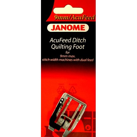 Janome 9MM Ditch Quilting Foot - 202087003
