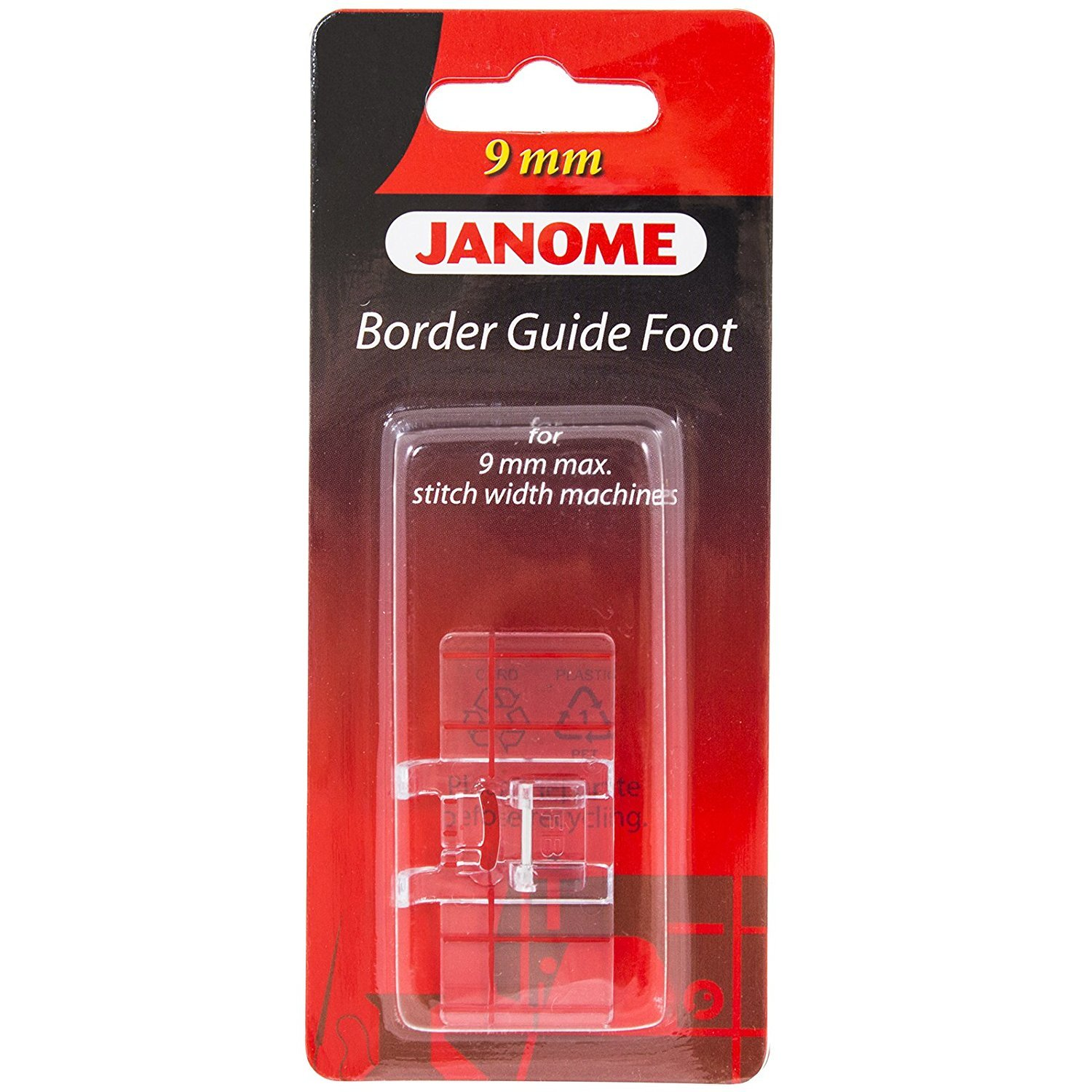 Janome Border Guide Foot 9mm  - 202084000