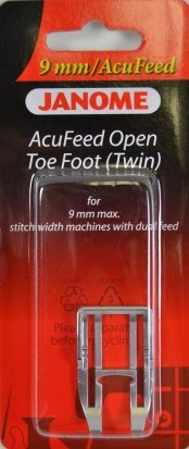 Janome 9MM Accufeed Open Toe Foot - 202149004