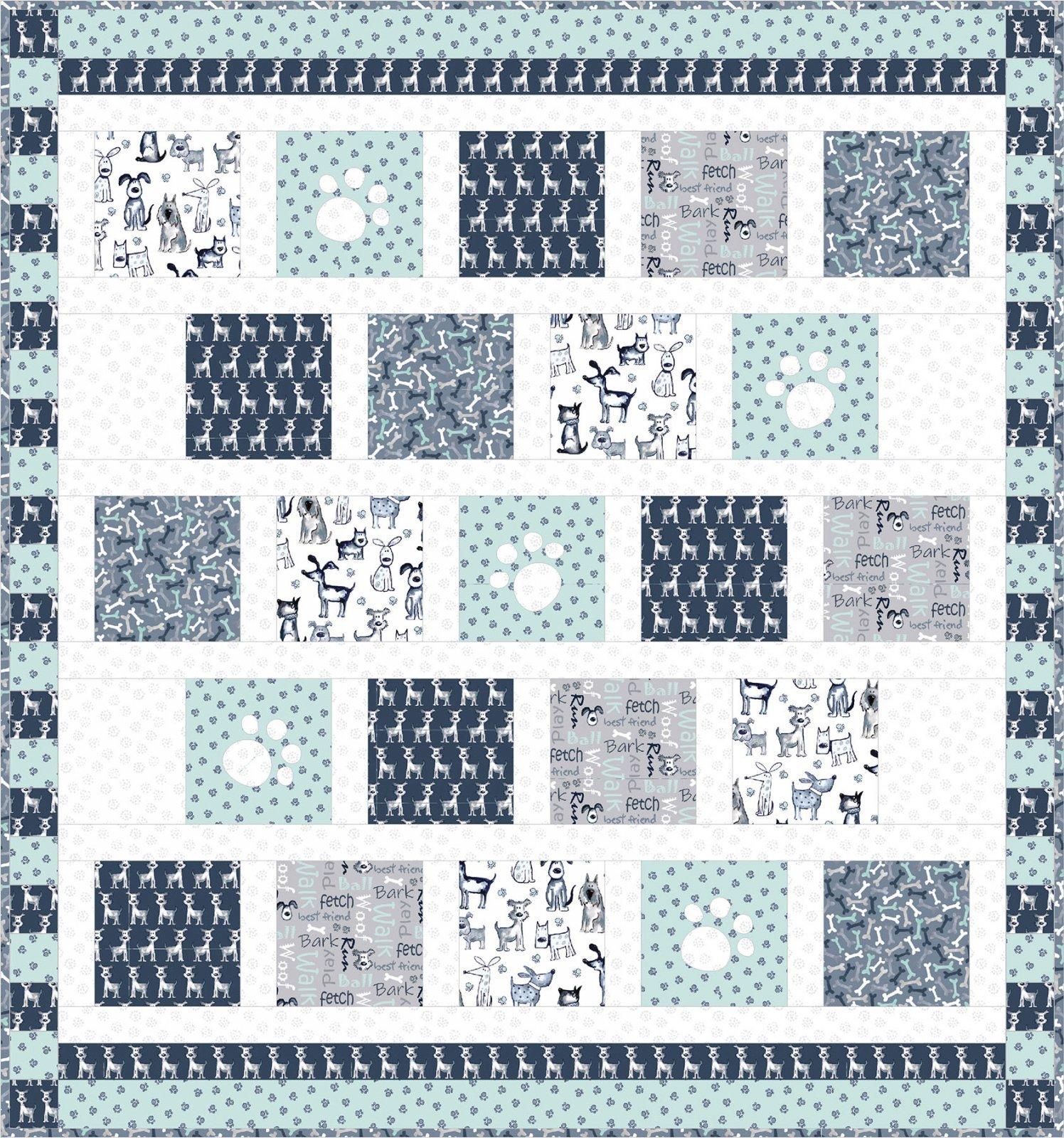 Poochie McGruff Flannel Quilt Kit