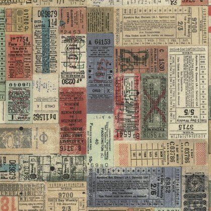 Tim Holtz Correspondence Transportation Tickets
