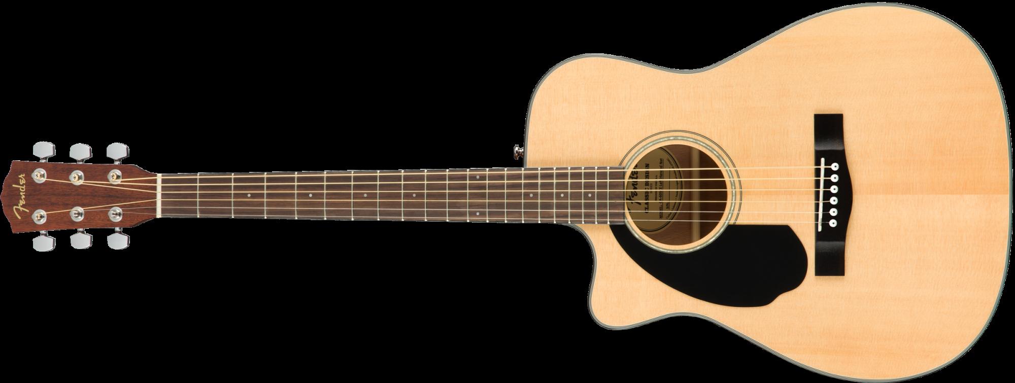 Fender CC-60SCE Concert LH  Walnut Fingerboard Natural