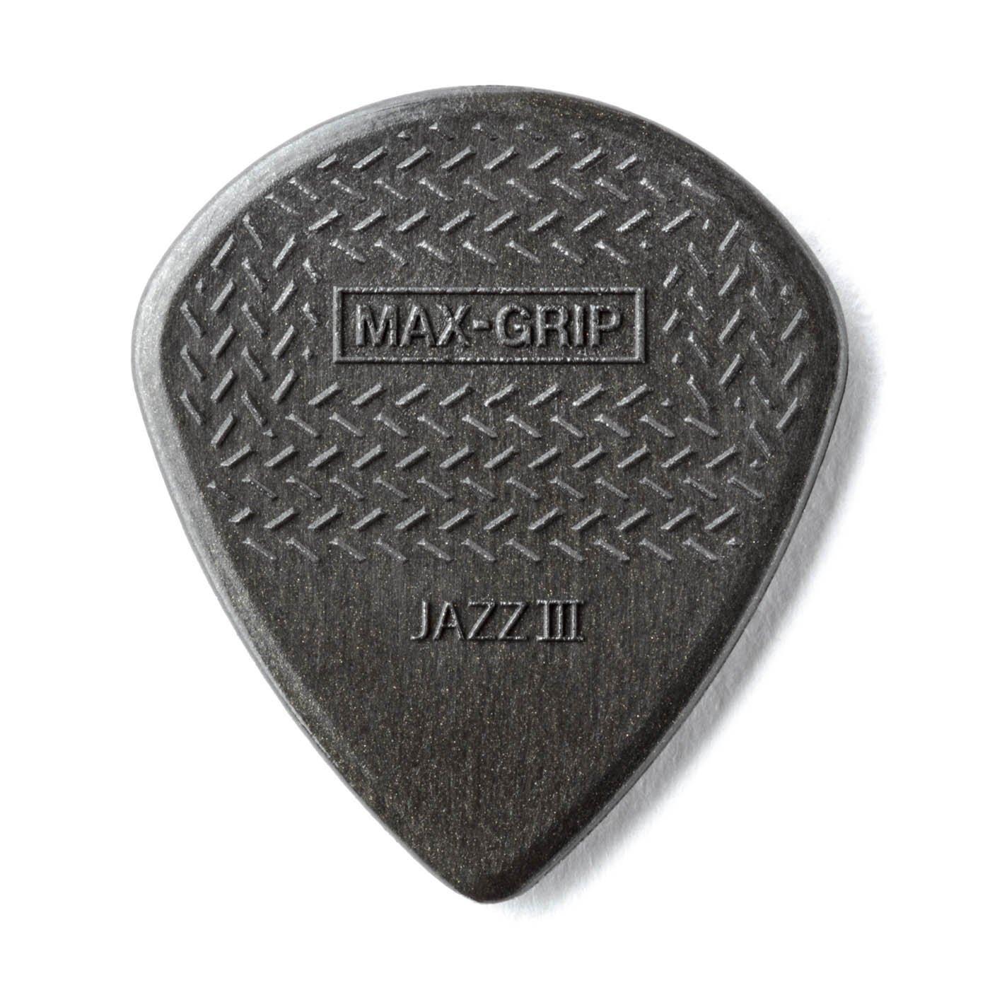 Dunlop Max Grip Jazz III Guitar Picks 6 PK