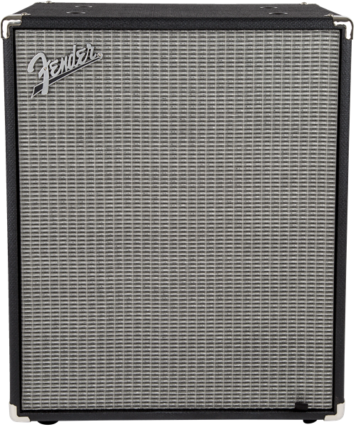Fender Rumble 2x10 Cabinet, Black and Silver
