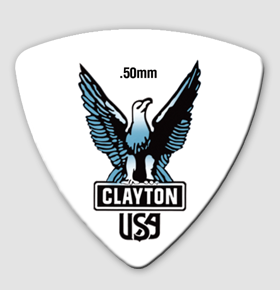 Clayton Acetal Rounded Triangle Guitar Picks 0.50mm 12 pack