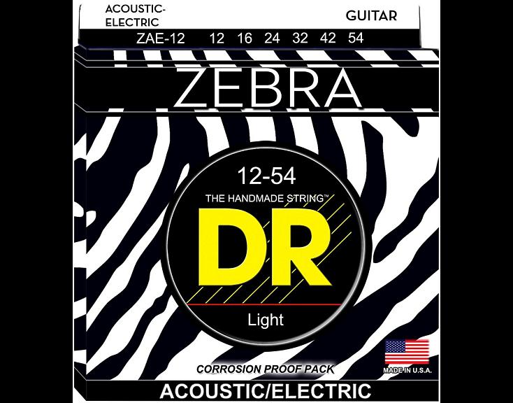 DR Zebra Acoustic-Electric Guitar Strings