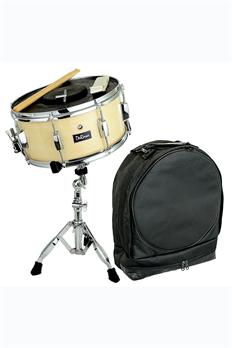 Bridgecraft USA Snare Kit DRMS14-NT w/ Bag, Sticks, Practice Pad & Stand