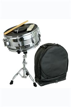 Bridgecraft USA Snare Kit DRMS14-SL w/ Bag, Sticks, Practice Pad & Stand