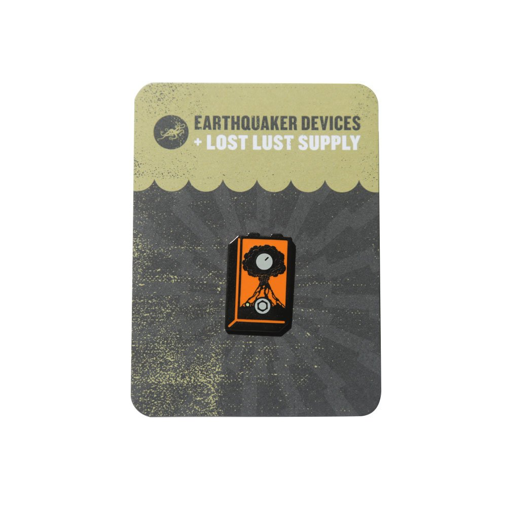 EarthQuaker Devices + Lost Lust Supply Erupter Enamel Pin